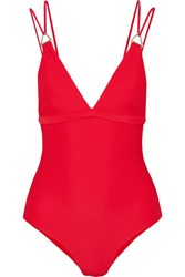 Dion Lee Tri Lock Swimsuit Red