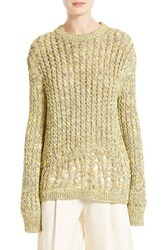 Joseph Women's Destroyed Cable Knit Pullover Fatigue