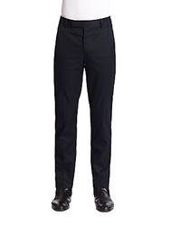 Elie Tahari Max Cotton Twill Trousers Navy