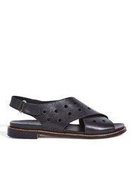 Jigsaw Palavas Perforated Sandal Black