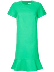 Ck Calvin Klein Peplum Hem Dress Green