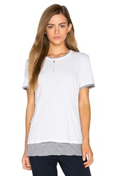 Monrow Double Layer Short Sleeve Tee White