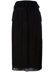 Iro Pleated Midi Skirt Black