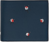Paul Smith Ps By Navy Dancing Dice Wallet