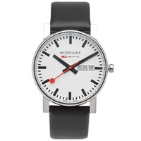 Mondaine Quartz Evo Day Date 38Mm Watch Black