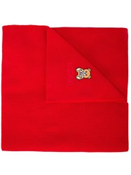 Moschino Teddy Bear Embroidered Scarf 60
