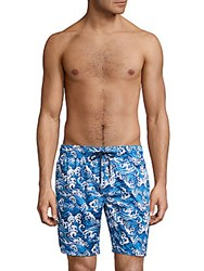2Xist Op Catalina Printed Boardshorts Wave2 Dark
