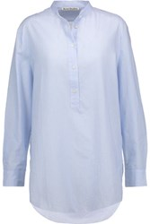 Acne Studios Galvin Striped Cotton Broadcloth Shirt Sky Blue