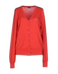 Armani Jeans Cardigans Red