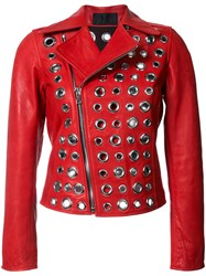 Rta Embellished Jacket Red