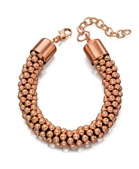 Fiorelli Costume Rose Gold Bead Bracelet