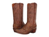 Lucchese Franklin Tan Burnished Cowboy Boots