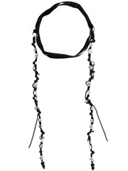 Ann Demeulemeester Beaded Wrap Around Necklace Black