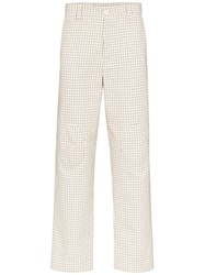 Sunnei Checked Straight Leg Trousers 60