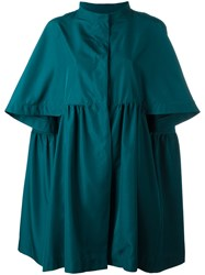 Gianluca Capannolo Cropped Sleeves Coat Blue