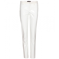 Haider Ackermann Patent Leather And Suede Trousers