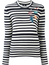 Paul Smith Ps By Patches Striped Jumper Black