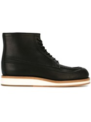 Sacai Lace Up Boots Black