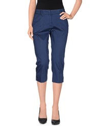 Peserico Sign Trousers 3 4 Length Trousers Women Dark Blue