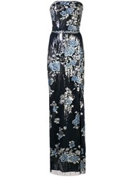 Marchesa Notte Floral Sequin Embroidered Gown 60