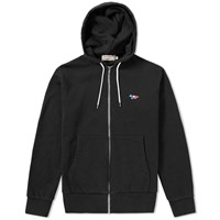 Maison Kitsune Tricolour Fox Patch Popover Hoody Black