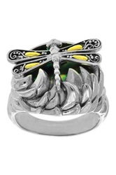 Phillip Gavriel 18K Yellow Gold And Sterling Silver Abalone Paua Shell Dragonfly Ring Metallic