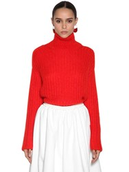 Marni Mohair Blend Knit Sweater Red