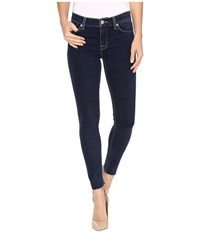 Hudson Nico Mid Rise Ankle Raw Hem Super Skinny In Unruly Unruly Women's Jeans Black