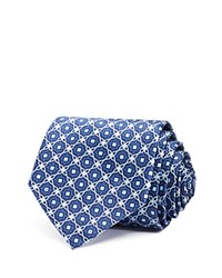 Bloomingdale's The Men's Store At Ornamental Star Medallion Classic Tie Navy