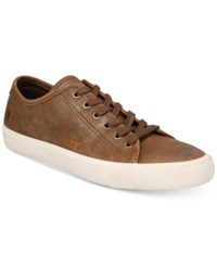 Frye Patton Low Top Lace Up Sneakers Created For Macy's Shoes Brown
