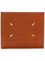 Maison Martin Margiela Coin Pouch Wallet Men Calf Leather One Size Brown