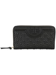 Tory Burch 'Fleming' Wallet Black