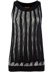 Missoni Pleated Sleeveless Blouse Black