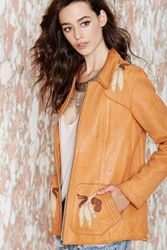 Nasty Gal East West Musical Instruments Leather Jacket