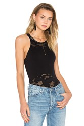 Bcbgeneration Lace Seamless Bodysuit Black