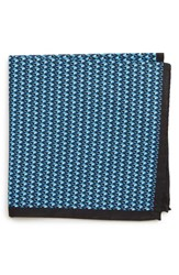 Bonobos Geometric Cotton Pocket Square Diamond Geo Blue