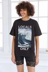Truly Madly Deeply Locals Only Wave Tee Black