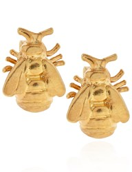 Alex Monroe Gold Vermeil Bumblebee Stud Earrings