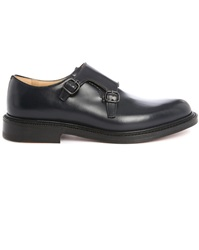 Churchs Navy Lambourn F Double Buckle Polished Leather Brogues