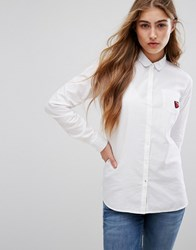 Tommy Hilfiger Oxford Shirt With Strawberry Patch Classic White