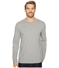 Life Is Good Painted Long Sleeve Crusher Tee Heather Gray Men's T Shirt