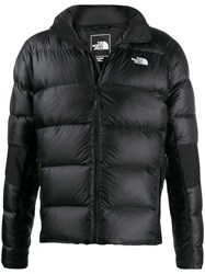 The North Face Embroidered Logo Down Jacket Black