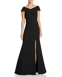 Dylan Gray Off The Shoulder Gown Black