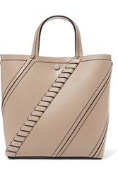 Proenza Schouler Hex Small Paneled Textured Leather Tote Beige