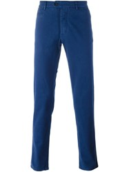 Fay Slim Chino Trousers Blue
