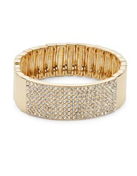 Rj Graziano Pave Bangle Bracelet Gold