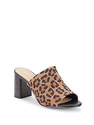 Bcbgeneration Beverly Leopard Print Mules Brown Multi