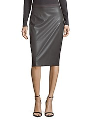Bcbgmaxazria Bess Solid Knit Skirt Dark Grey