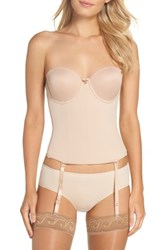 Va Bien Women's Ultra Lift Low Back Bustier Nude