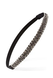 Forever 21 Beaded Headwrap Pewter Black